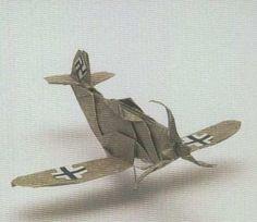 Ornament Origami ME 109 War Plane Ornament   Origami ME 109 War Plane by diyforever