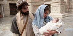 Mary and Joseph take Jesus to the temple, where the righteous Simeon blesses the baby and rejoices that the Lord let him live to see this day. Joseph, Temple, Abraham And Sarah, H Words, Luke 2, High Priest, Baby Jesus, New Testament, Jesus Christ