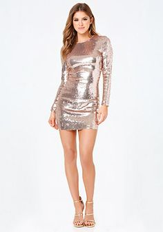 bebe Allover Sequin Dress #bebe #pinyourwishlist