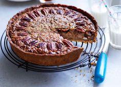 Australian Gourmet Traveller recipe for pecan and maple pie.