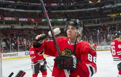 1.6.15 Lanche vs Hawks Kaner preps his stick prior to the game - Photo by Bill SmithNHLI via Getty Images