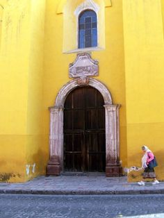 On her way to church.  August 3 in San Miguel de Allende, 9 AM Great time to visit San Miguel, take a tour, learn Spanish, and enroll in a art class (no experience needed) Contact us at Cristi Fer Art Studio