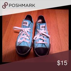 Turquoise bright blue all star converse shoes! Turquoise bright blue all star converse shoes! Converse Shoes Sneakers