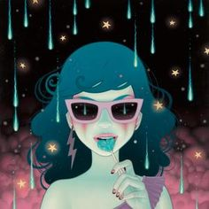 "supersonicart: "" Tara McPherson's ""I Know It By Heart."" Currently showing in Rome, Italy at Dorothy Circus Gallery is artist Tara McPherson's solo show, ""I Know it by Heart. Art Beat, Art And Illustration, Portrait Illustration, Kunst Poster, Pop Surrealism, Wood Print, Illustrators, Pop Art, Contemporary Art"
