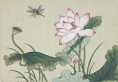 Lotus / Color on korean paper, 2012 / 50 x 34 cm (19.7 x 13.4 inch)