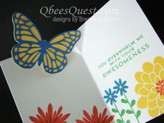 Qbee's Quest: Easy Butterfly Pop Up Card