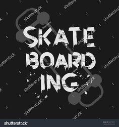 Vector illustration on the theme of skateboard and skateboarding. Graffiti design. Grunge background. Typography, t-shirt graphics, poster, print, banner, flyer, postcard