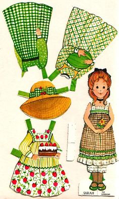 Dolls to trim: Old paper dolls - Sarah, Katie, Carrie and Nicky Childhood Toys, Childhood Memories, Paper Art, Paper Crafts, Paper Doll House, Paper Dolls Printable, Holly Hobbie, Vintage Paper Dolls, Paper Toys