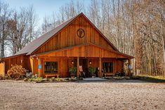 Rustic Barn Venue Barn Weddings, Rustic Barn, Cabin, House Styles, Home Decor, Decoration Home, Room Decor, Cabins, Cottage