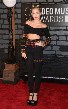 Miley Cyrus photographed on the red carpet at the 2013 MTV Video Music Awards in Brooklyn, New York. | MTV Photo Gallery