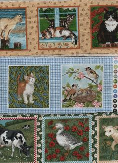 Pkt x 3 strips of cotton picture blocks for applique/card making/pincushions Cotton Pictures, Fabric Pictures, Indian Tapestry, Vintage Cross Stitches, Tapestry Wall Hanging, Dorm Decorations, Pin Cushions, Framed Art, Scrappy Quilts