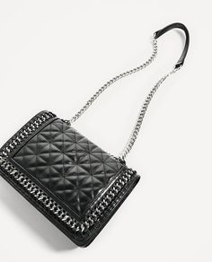 ZARA - WOMAN - QUILTED LEATHER CROSSBODY BAG