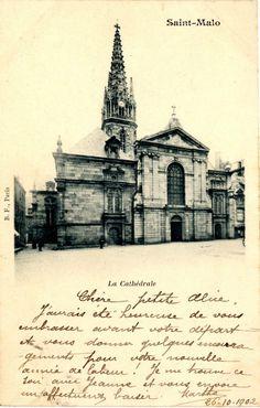 Saint-Malo 1900, la cathédrale.  https://www.facebook.com/ArchivesMunicipalesDeSaintMalo/
