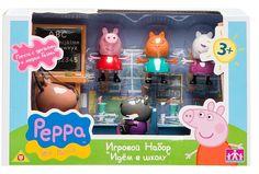"""Peppa Pig, Игровой набор """"Идем в школу"""" (2 парты)"""