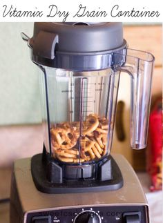 Vitamix Dry Grains Container-  a quick and easy way to process grains or other dry foods.