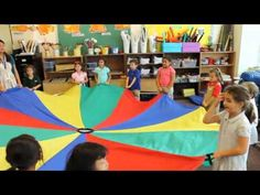The Parachute Song - can use a parachute to teach fast and slow, over and under