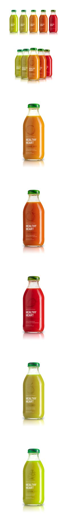 Healthy Heart Juice by Matt Ivory, via Behance *** Label design for independent company, Healthy Heart.