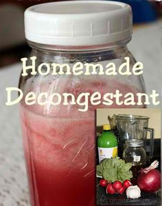 Homemade Herbal Decongestant
