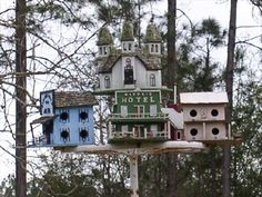 Old West Town Birdhouses....