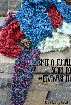 Knitters of all skill levels can knit a scarf with this easy pattern using lots of yarn and huge needles. It works up in no time for gifts or charity.