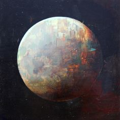 "Saatchi Online Artist: Joshua Bronaugh; Oil, 2012, Painting ""Red moon"" Contemporary Paintings, Saatchi Art, Online Art, Selling Art Online, Art Nouveau, Red Moon, Moon Art, Tumblr, Opera"