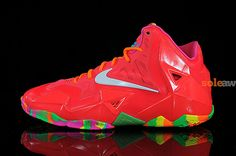 "Preview: Nike LeBron 11 GS ""Fruity Pebbles"""