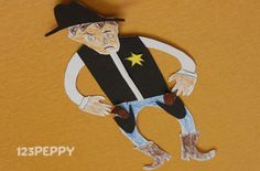 Travel to the times of the Wild Wild West with this Cowboy paper craft