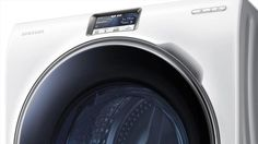 Samsung Samsung just raised the bar for smart appliances with its beastly new – a washing machine that can be completely controlled via a smartphone app. Smartphone, Digital Trends, Cool Tech, Washing Clothes, Washer, Laundry, Home Appliances, Let It Be, Product Design