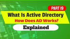 Active Directory Explained - How To Setup Active directory domain services on windows server 2016 Information Technology, Technology News, Science And Technology, Active Directory, Admin Jobs, Trust In Relationships, Organizational Structure