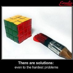 There are solutions for issues and for problems...