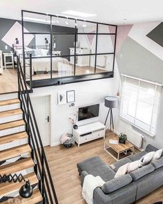 Scandi-meets-industrial loft apartment styled by Shoko Design via #planetdeco This is straight #scandiinteriors #industrialdecor