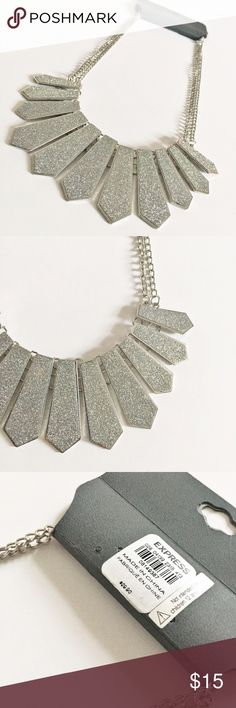 Express silver sparkle statement necklace New with tags. Bundle 3+ for 20% off 💗😊 Express Jewelry Necklaces