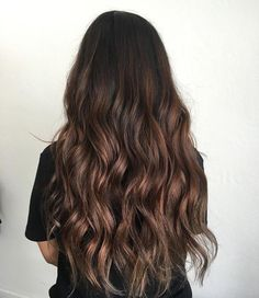 Brown Hair Balayage, Brown Blonde Hair, Brunette Hair, Hair Highlights, Black Hair Dyed Brown, Caramel Highlights, Brunette Color, Ombre Hair, Hair Color For Black Hair