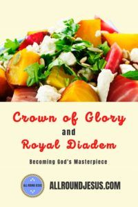 What does it mean to be a Crown of Glory and Royal Diadem? The bible says we will be God's crown of glory and His Royal Diadem. This means we will become God's masterpiece and an attraction in this world. #crownofglory #royaldiadem #godsmasterpiece Daily Encouragement, Christian Encouragement, Seeking God, Believe In God, Christian Living, In This World, Attraction, Bible, Crown