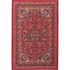 """For the Kitchen...Ottomanson Ottohome Collection Persian Heriz Oriental Design Red Runner Rug (3'3"""" x 5'0"""")"""