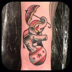 Paul Dobleman - Circus Elephant Tattoo