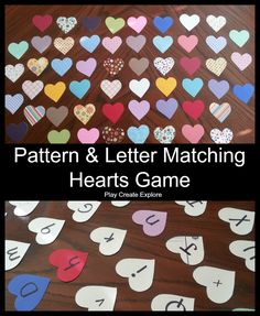 Play Create Explore: Pattern and Upper/Lowercase Letter Matching Game