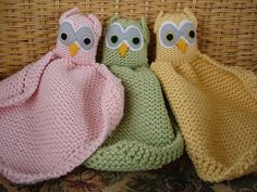 Owl Buddy Blanket: free knitting pattern