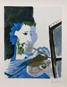 Le Peintre (The Painter), a color lithograph by artist Pablo Picasso. Picasso lithographs for sale at Masterworks Fine Art Gallery. Pablo Picasso, Art Picasso, Picasso Drawing, Picasso Paintings, Picasso Images, Georges Braque, Cubist Movement, Great Works Of Art, Chef D Oeuvre