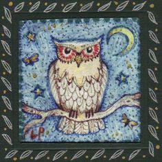 original owl painting liza paizis