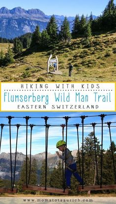 Theme trail for children with interactive educational stations about nature. Afterwards, enjoy the playground and ropes course. Ropes Course, Hiking With Kids, Travel Activities, Hiking Trails, Day Trips, Trip Planning, Playground, Switzerland, Adventure