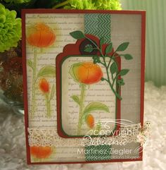 "Stamping with Bibiana: Fall Peonies with ""PanPastels"""