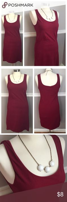 H&M Maroon Bodycon Dress H&M basic. Burgundy / Maroon bodycon dress.  Stretch fit. Scoop neck sleeveless. 95% cotton 5% elastane. BUNDLES 20% OFF 🎉 H&M Dresses