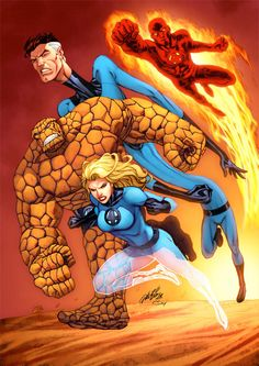 Fantastic Four color by Al Rio by *AlRioArt on deviantART