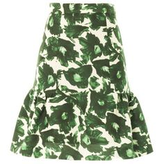 MOTHER OF PEARL Volta floral-print skirt (€300) found on Polyvore featuring skirts, green multi, floral print skirt, fitted maxi skirt, flower print skirt, fitted skirts and green floral skirt