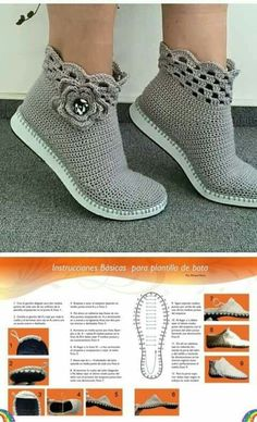 Learn how to crochet shoes with this easy free crochet pattern and tutorial. Because of their flip flop soles, these DIY kicks work well equally well as house slippers or outdoor shoes. Crochet Boots Pattern, Crochet Slipper Boots, Newborn Crochet Patterns, Crochet Sandals, Knit Boots, Shoe Pattern, Crochet Shoes, Crochet Baby Hats, Crochet Slippers