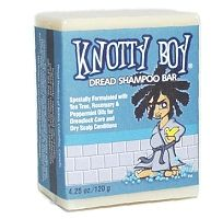 At last, the all-natural Knotty Boy Dread Shampoo Bar has arrived!     This rosemary/tea tree/peppermint dread shampoo bar combats dandruff, fights the itchies and give you the sweetest smelling dreads around.