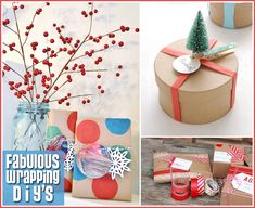 Fun and Creative Gift Wrapping Inspirations! Come on over to TheCottageMarket.com and see all the fun!