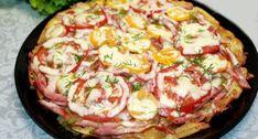 Táto pochúťka z portálu napadovy.blog osloví všetkých milovníkov zemiakov. Základ sa totižto pripravuje zo zemiakov. Múka sa v tomto recepte nepoužíva a rúra nie je potrebná. Iba pol hodiny a je pripravená veľmi chutná pochúťka … Hawaiian Pizza, Quiche, Breakfast, Blog, Morning Coffee, Quiches, Blogging
