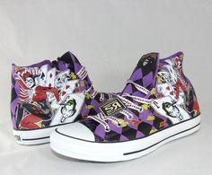 4db8d229b1b5 New Converse HARLEY QUINN All Star Chuck Taylor DC Comics Shoes Batman  Joker